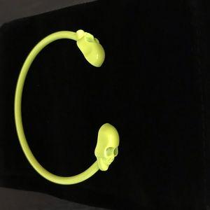 Jewelry - NEW Skull Bangle Bracelet Neon Green